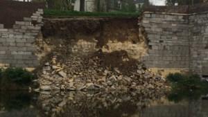 Opnieuw een deel van oude stadsmuur Maastricht ingestort