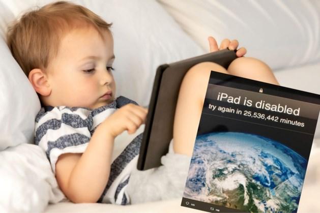 Kleuter tikt iets te veel foute paswoorden in op iPad vader: 'Probeer het over 48 jaar nog eens'
