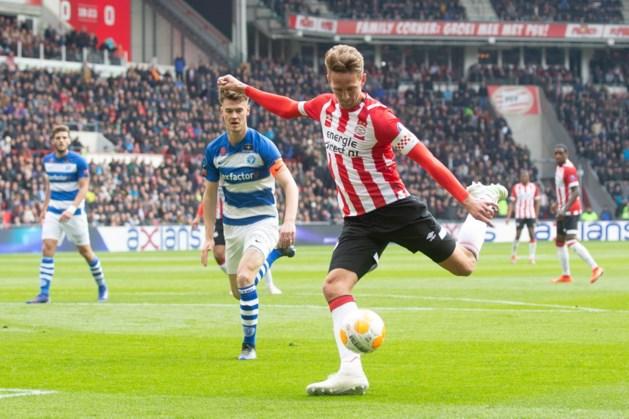 PSV worstelt zich langs De Graafschap, maar ziet Ajax op doelsaldo weglopen