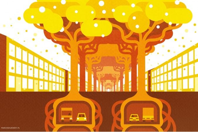 Een gestapelde tunnel die goud brengt