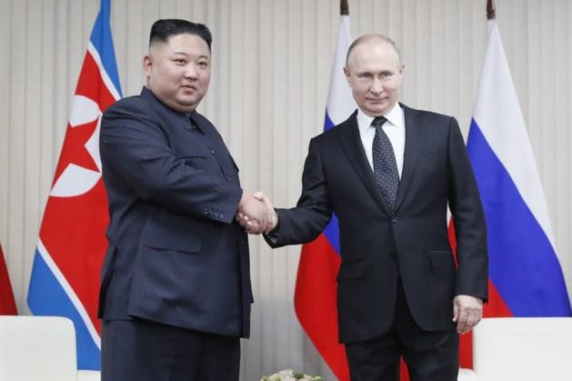 Poetin en Kim Jong-un spreken twee uur op eerste top