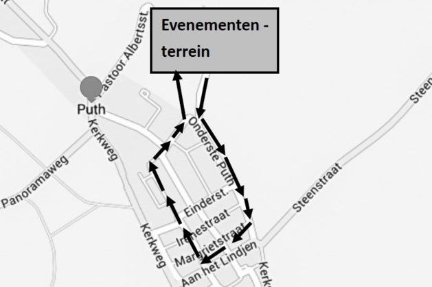 Route Zuid-Limburgs Federatiefeest Puth bekend