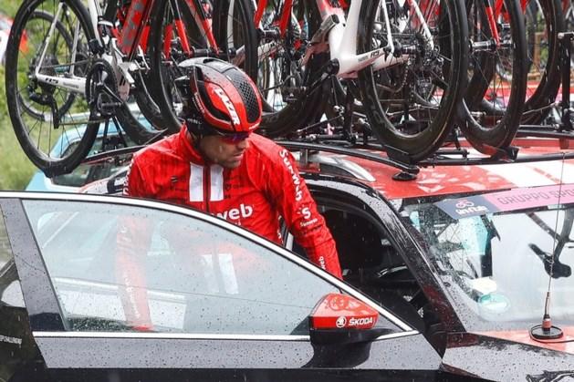 Zware domper: Tom Dumoulin toch afgestapt in de Giro