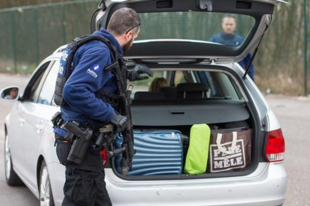 Grote politieactie vlak over Belgische grens