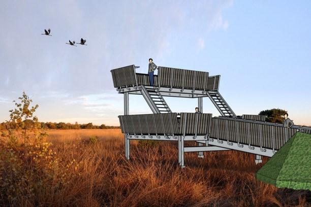 Gratis met de boswachter de Peel in voor donateurs uitkijktoren