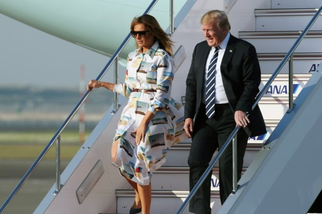Trump aangekomen in Japan