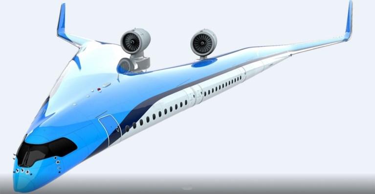 Video: KLM en TU Delft werken aan V-vormig vliegtuig