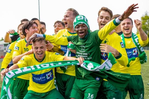 Kampioenschap voetballers Groene Ster kroon op het werk