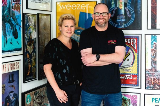 Ilona en Dries verhuisden omdat de collectie cd's te groot werd