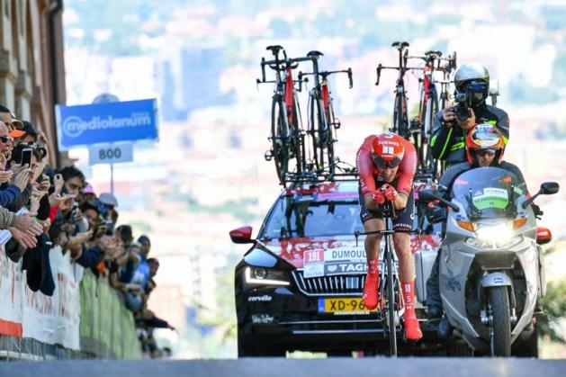 Dumoulin derde in tijdrit Dauphiné, Van Aert imponeert
