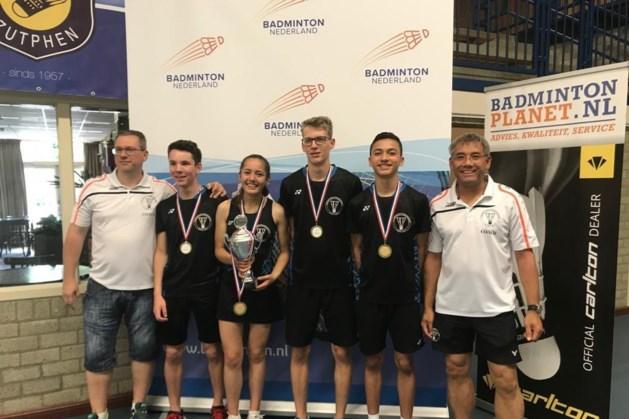 Eerste team Badminton Club Roermond Nederlands kampioen