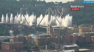 Video: Restanten van ingestorte brug Genua opgeblazen