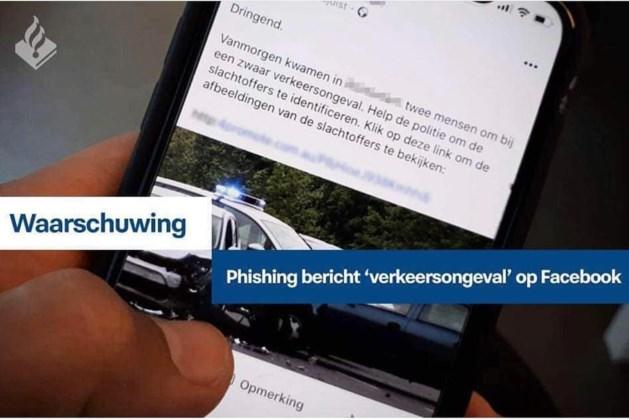 Politie waarschuwt voor phishingberichten 'verkeersongeval'