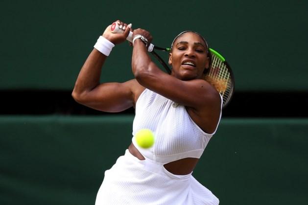 Serena Williams naar elfde finale op Wimbledon