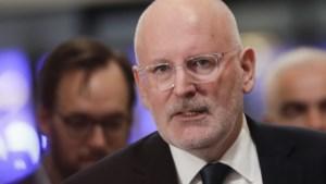 Frans Timmermans positief over agenda Von der Leyen