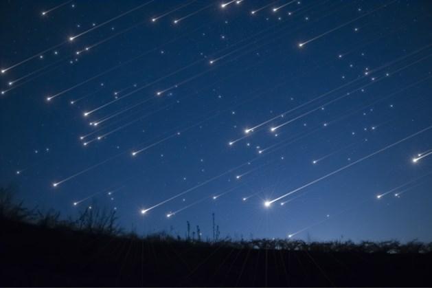 Komende nachten vallende sterren van Perseïdenzwerm te zien