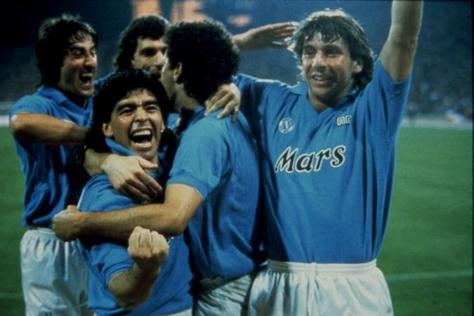 'Voetbalgod Diego Maradona komt ten val in Napels'