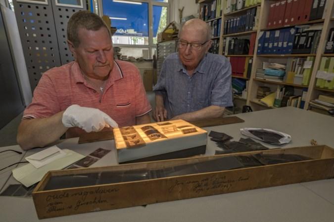 Heemkunde Brunssum wordt verrast met kistje met 5900 negatieven van historische foto's