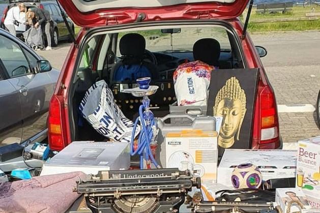 Kofferbakverkoop met kinderactiviteiten