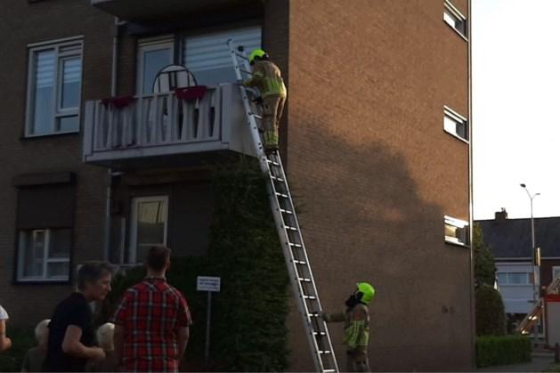 Brand op balkon van flatgebouw in Venlo