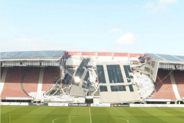 Dak AZ-stadion deels ingestort