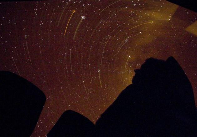 Vallende sterren maandag maar kort te zien