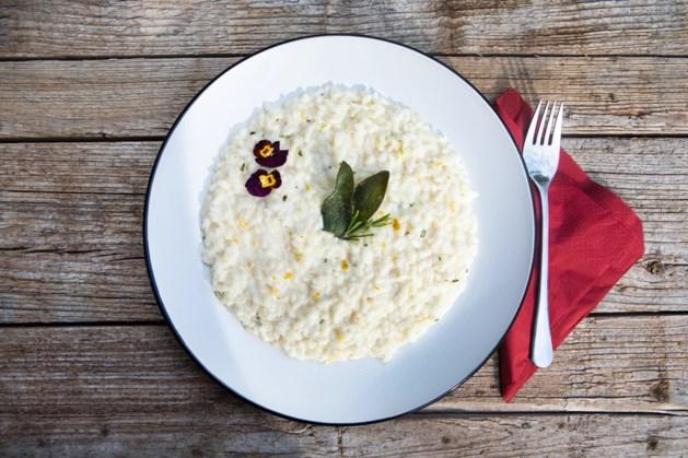 Echt Italiaans: vegetarische risotto met mascarpone, rozemarijn en knapperig gefrituurde salie