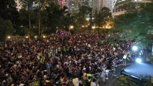 Weer grote betoging in Hongkong