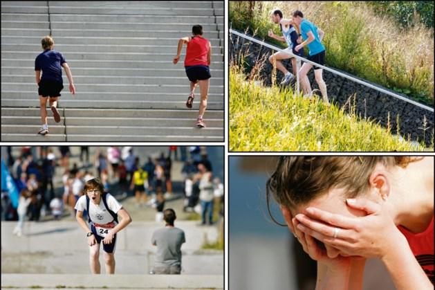 Trainen voor loodzware trappenmarathon in Landgraaf