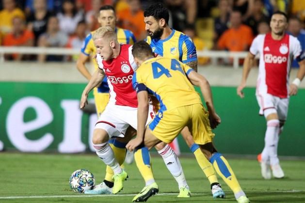 Matig Ajax moet klus thuis klaren na remise op Cyprus
