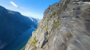 Spectaculaire beelden: Drone raast over Noorse kliffen en watervallen