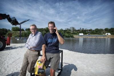 Modelleren en varen voor theaterpremière in Heerlense zandgroeve Beaujean