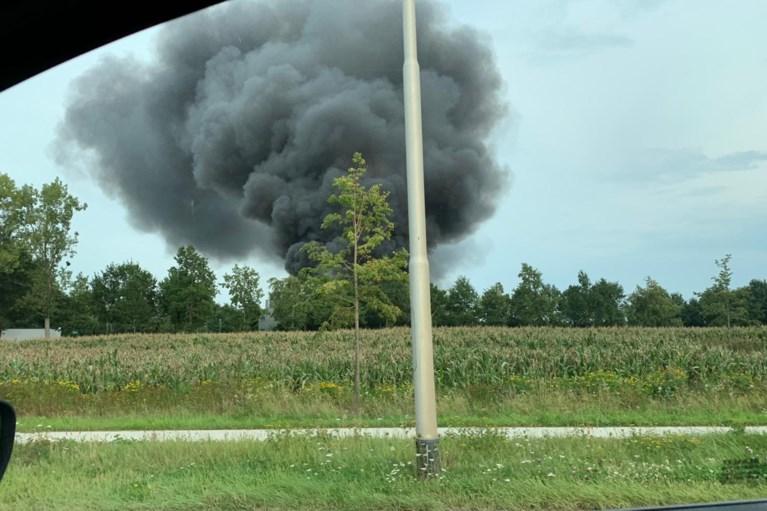Video: Grote brand in biomassacentrale Sittard onder controle