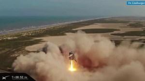 Video: Raket die mensen naar Mars moet brengen, bereikt nieuwe recordhoogte tijdens test