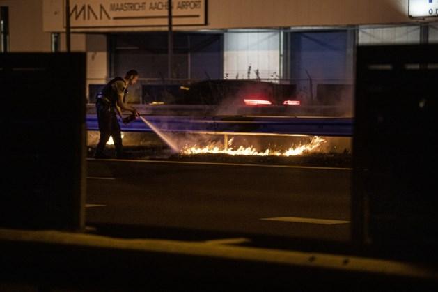 Bermbrand bij vliegveld Beek
