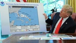 'Trump sjoemelt met kaart om zijn gelijk te halen over koers van orkaan Dorian'