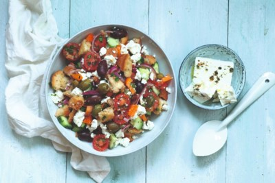 Italiaanse salade met een Grieks tintje