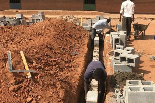 Start bouw lokalen Chipala school in Malawi