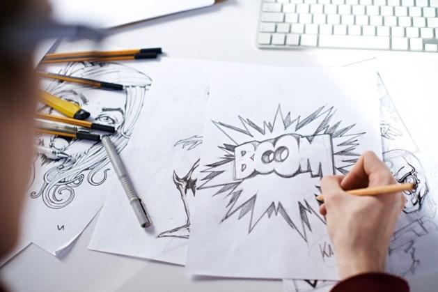 Workshop striptekenen door illustrator Vick Debergh in bieb Eijsden