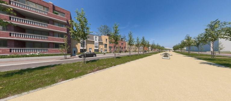 Alvast lopen langs toekomstige huizen op Groene Loper in Maastricht