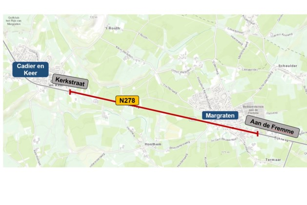 N278 in Margraten dicht voor verkeer