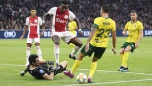 Fortuna mag een halve wedstrijd lang dromen tegen Ajax