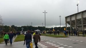 Situatie bij Fortuna-stadion dreigt uit de hand te lopen: ME grijpt in