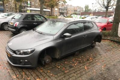 Wielen worden onder auto in Heerlen gestolen; eigenaar vindt ze onder andere wagen terug