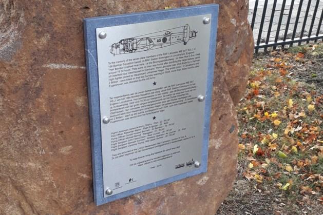 Monument voor in Eygelshoven neergestorte bommenwerper