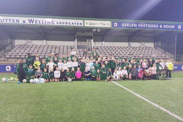 Selectie Groene Ster geeft training aan ruim 100 jeugdleden