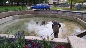 Fontein Odapark schoongemaakt en gerestaureerd