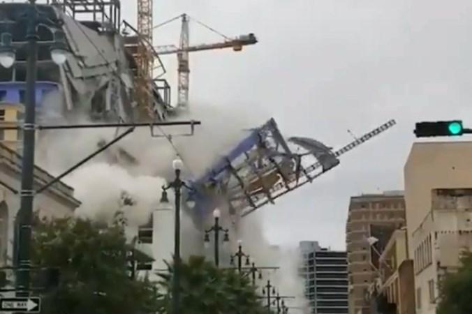 Bijna voltooid hotel in New Orleans ingestort: één dode, drie vermisten en ettelijke gewonden