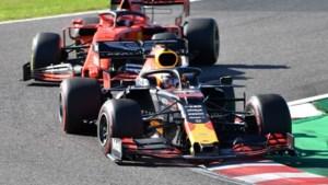 Verstappen al na 14 ronden klaar in Japan door touché met Leclerc
