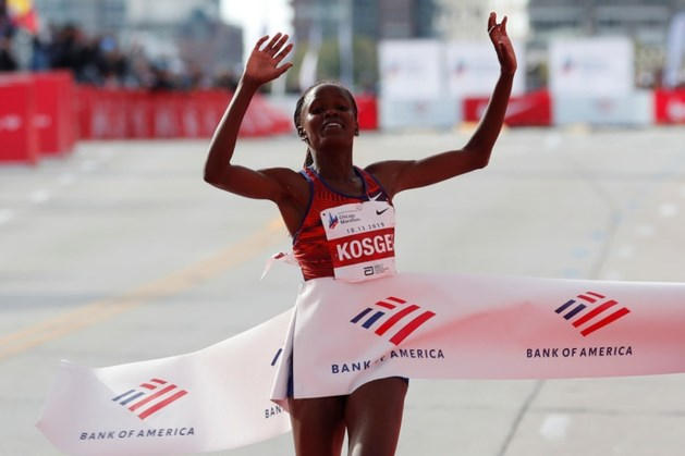 Brigid Kosgei loopt wereldrecord marathon